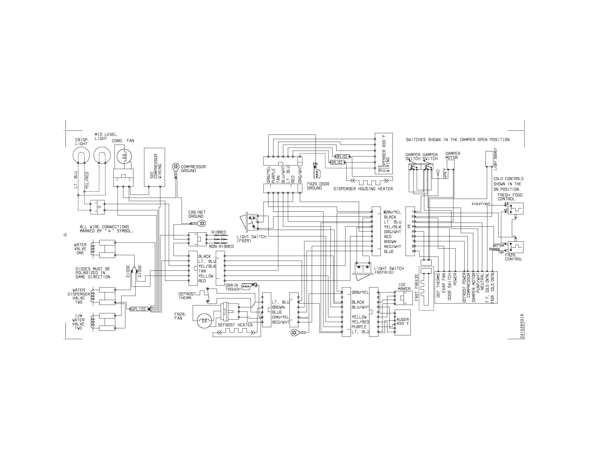 hight resolution of kenmore 25357399601 wiring diagram diagram