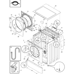 Frigidaire Front Load Washer Parts Diagram Visio Cloud Model Gltf2940ee0 Residential Washers Genuine
