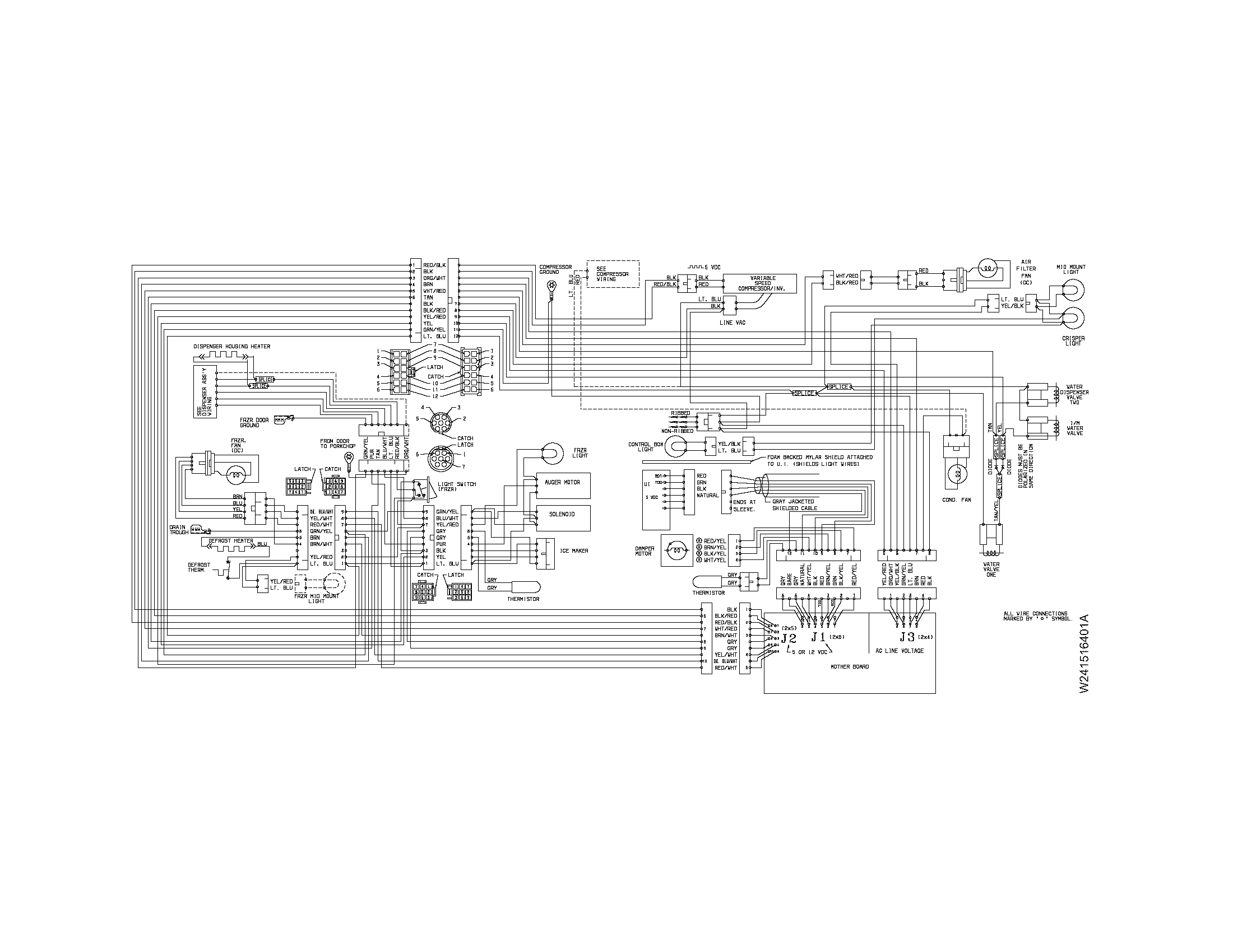 electrolux double door refrigerator wiring diagram easy of plant cell freezer parts model