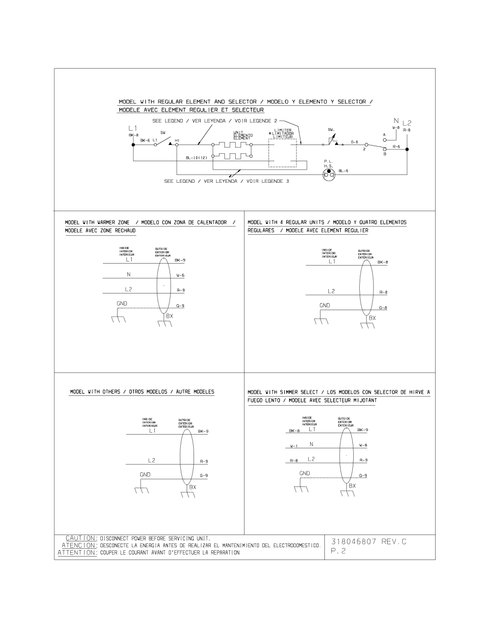 medium resolution of kenmore model 79042739403 counter unit electric genuine parts kenmore stove top wiring diagram model 790 42739403