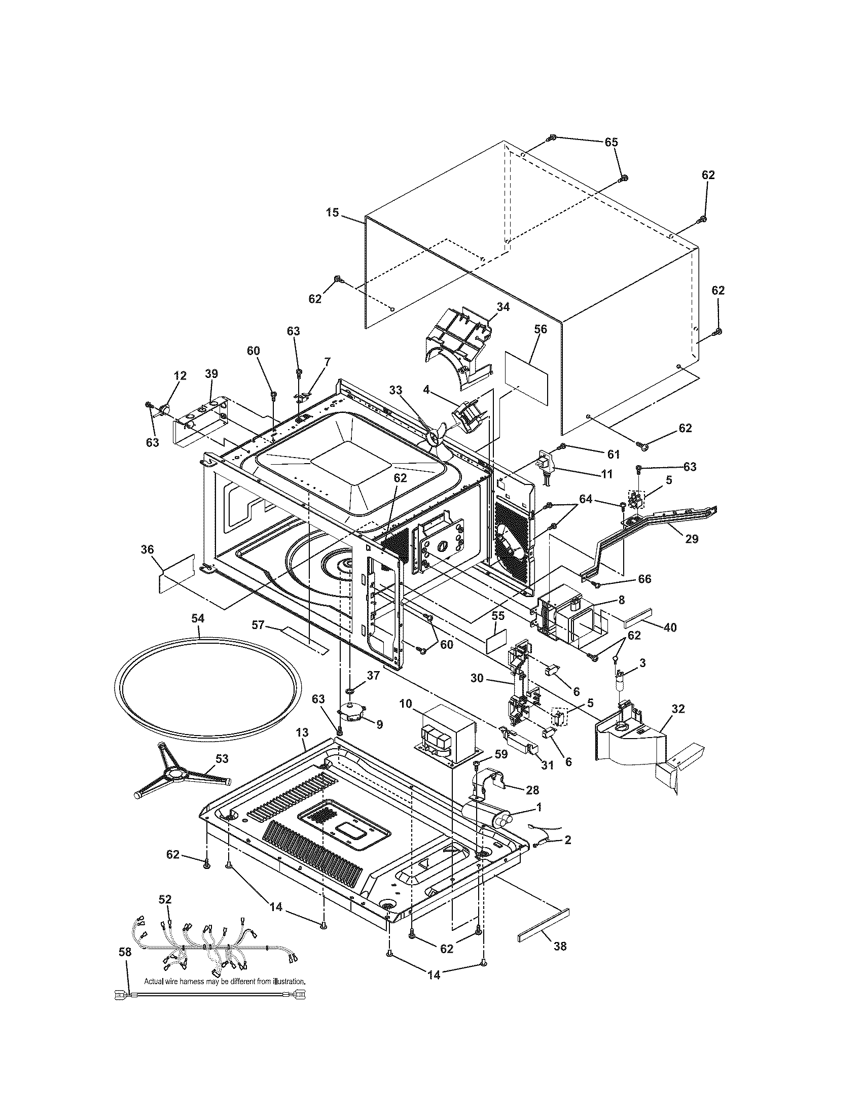 MICROWAVE Diagram & Parts List for Model 79047853406