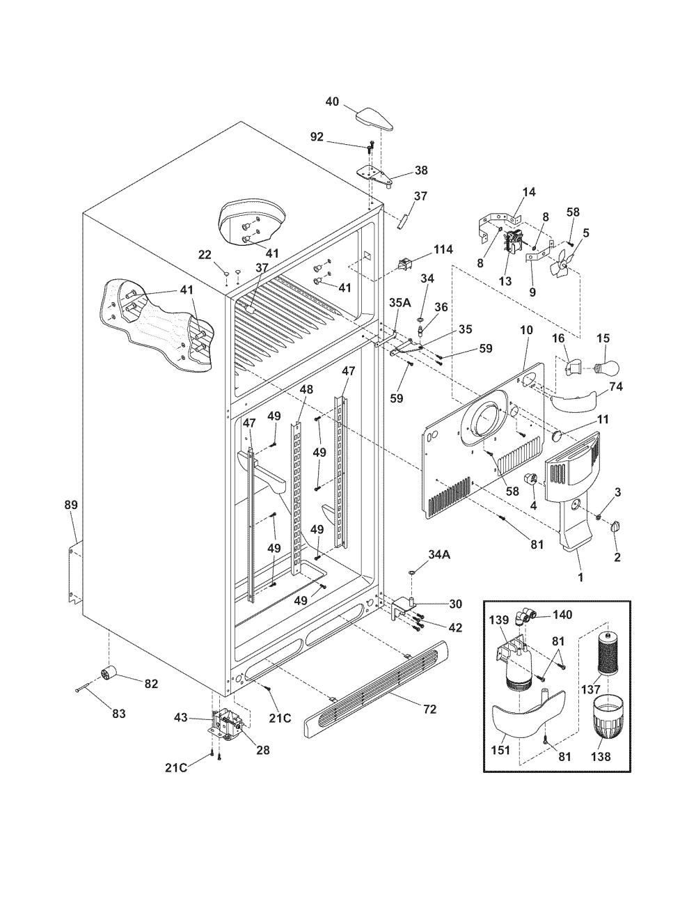 medium resolution of frigidaire refrigerator water line diagram