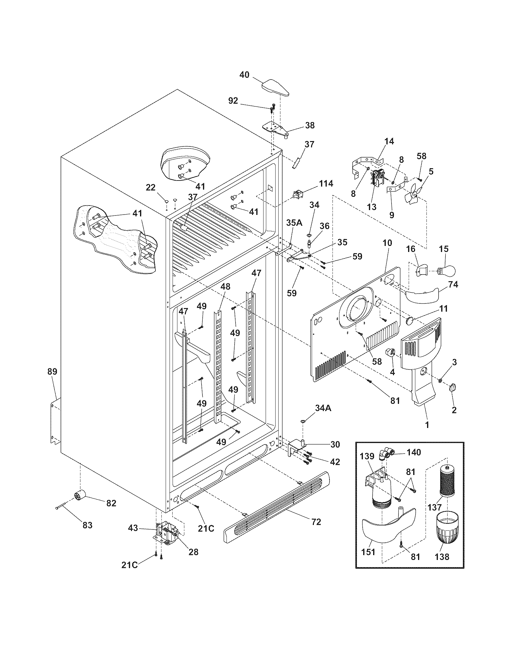 hight resolution of frigidaire refrigerator water line diagram