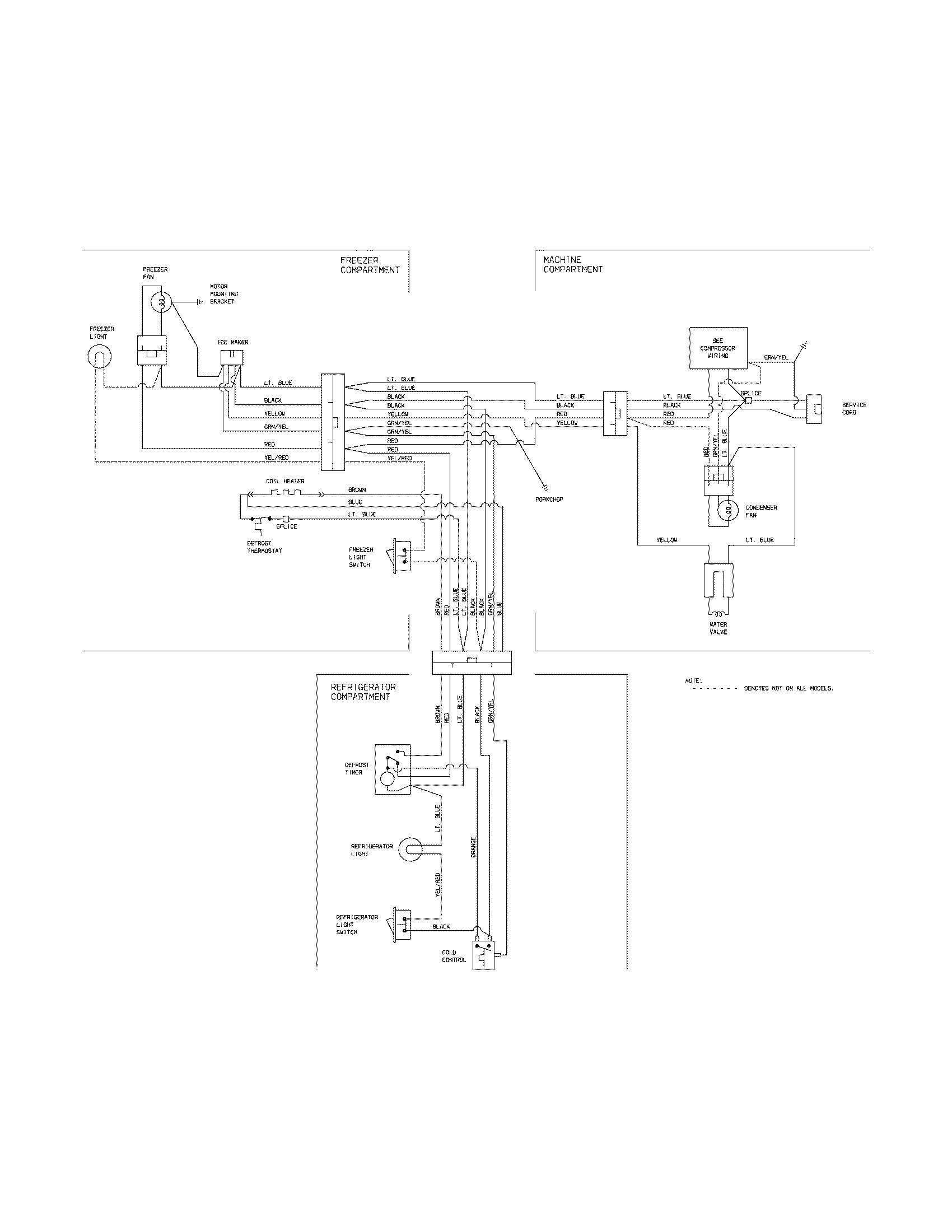 frigidaire wiring diagram chevy hei refrigerator ice maker parts model