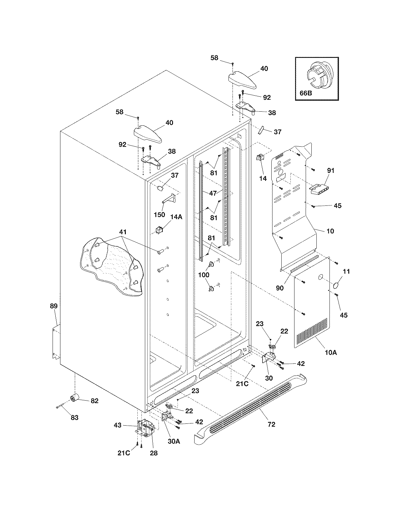 CABINET Diagram & Parts List for Model frs6hr5jb0