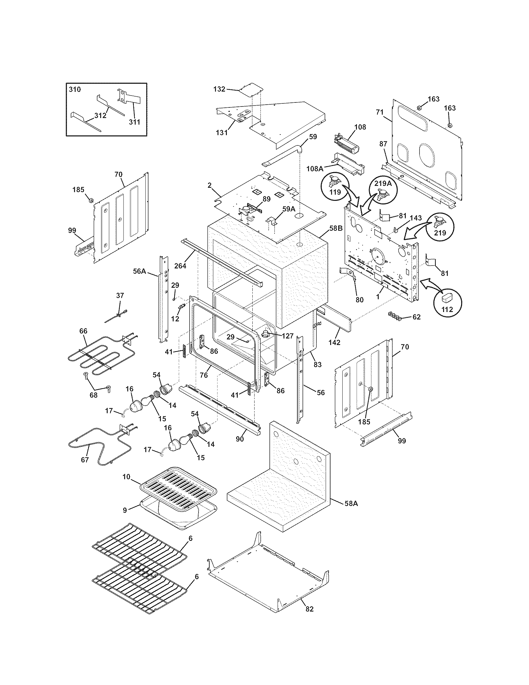 hight resolution of kenmore 79047789406 body diagram
