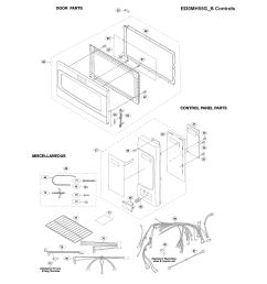 electrolux ei30mh55gsb control panel door misc diagram [ 1700 x 2200 Pixel ]