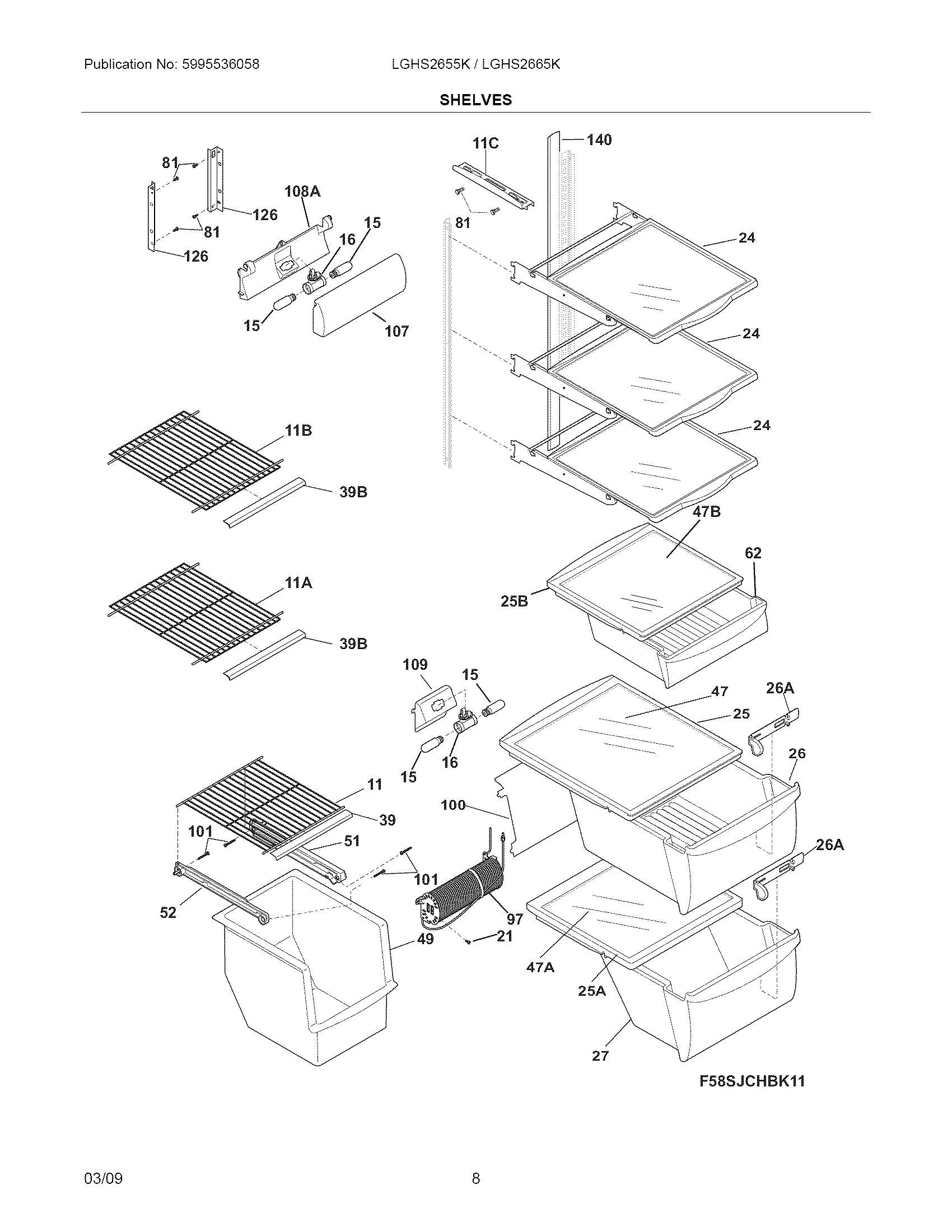 Refrigerated: Frigidaire Refrigerator Parts