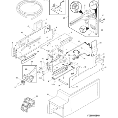 Electrolux Parts Diagram Yamaha Outboard Gauges Wiring Ice Maker And List For Model Ei28bs56is0