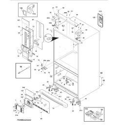 electrolux ew23bc71is0 cabinet diagram [ 1700 x 2200 Pixel ]