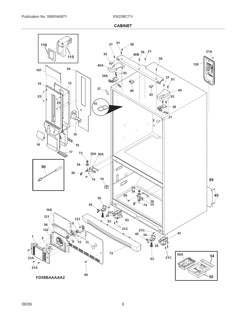 small resolution of electrolux ew23bc71is0 cabinet diagram
