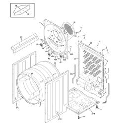 frigidaire frqe7000lw0 cabinet drum diagram [ 1700 x 2200 Pixel ]