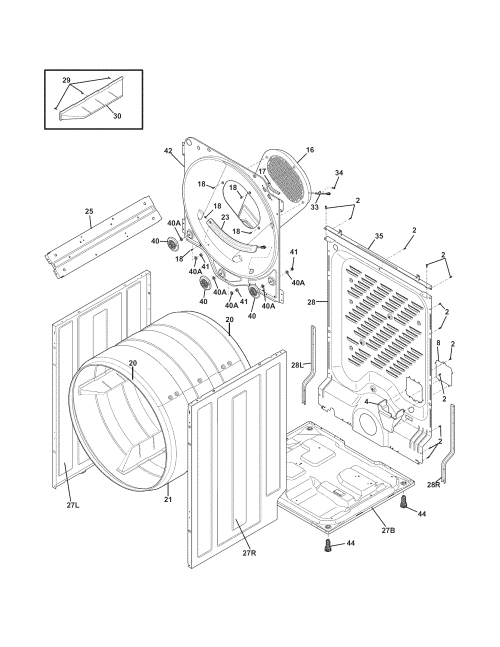 small resolution of frigidaire frqe7000lw0 cabinet drum diagram