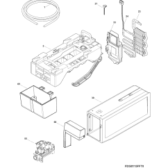 Ice Maker Diagram 2000 Mustang Gt Wiring And Parts List For Model Fghf2344me0