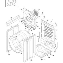 Frigidaire Affinity Dryer Wiring Diagram Double Helix Labeled Electric Parts Model Faqe7111lw0