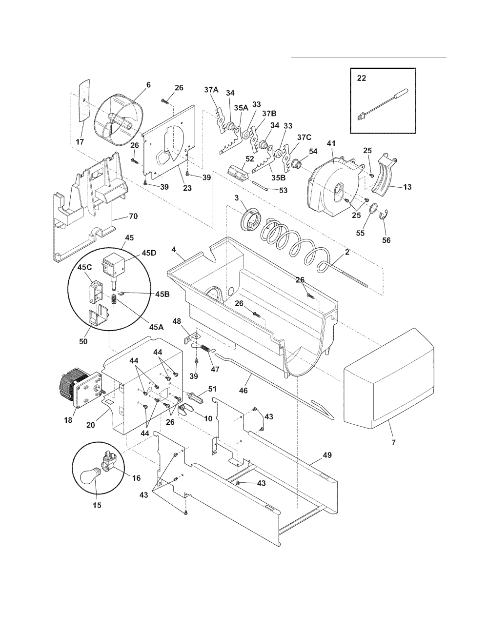 medium resolution of electrolux refrigerator ice container parts