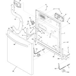 Frigidaire Gallery Dishwasher Parts Diagram R33 Wiring Model Fghd2465nf1a Genuine