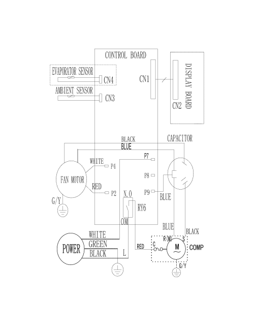 small resolution of frigidaire model fra053xt735 air conditioner room genuine parts hvac fan relay wiring diagram frigidaire air handler