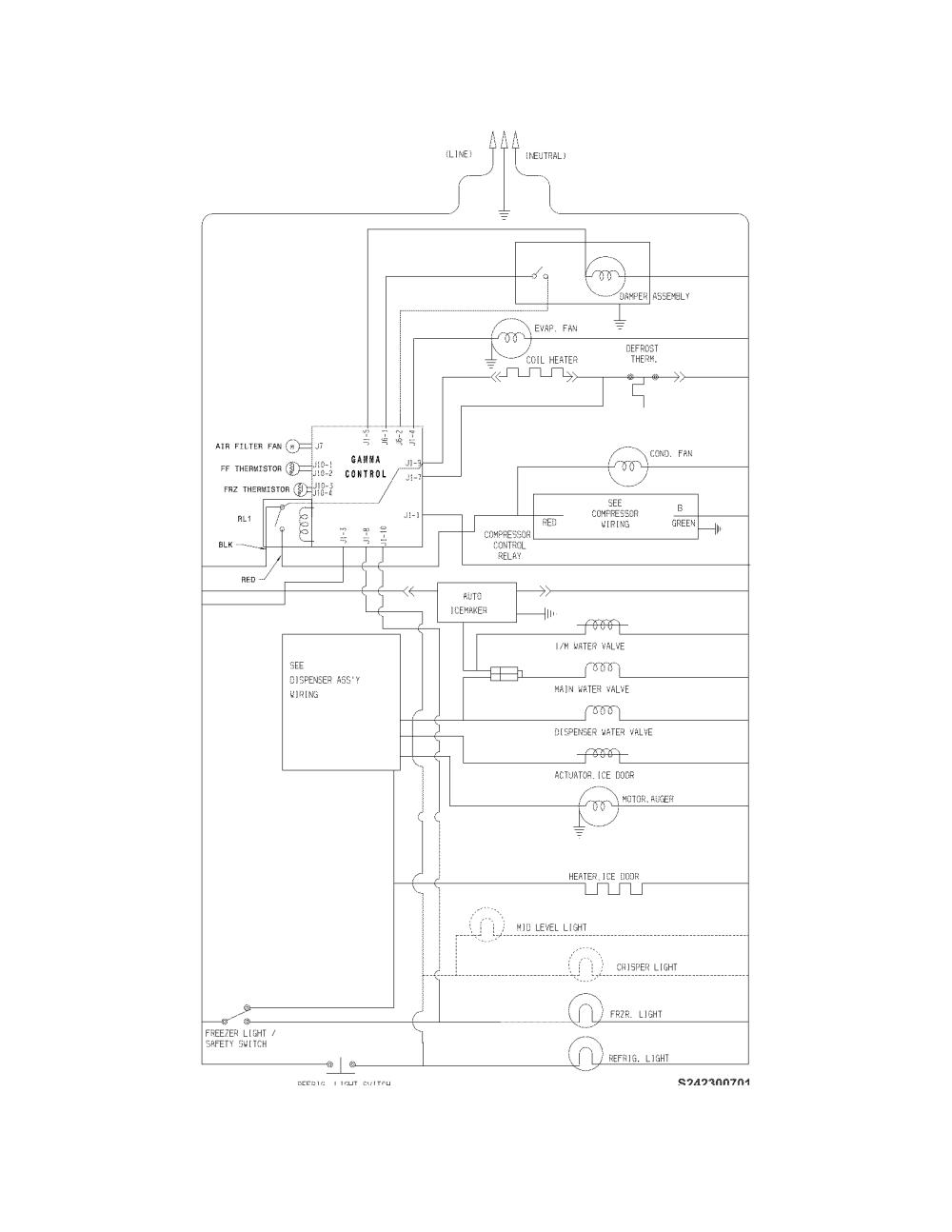 medium resolution of frigidaire ffhs2611lwf wiring schematic diagram