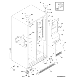 frigidaire ffhs2311pf5 cabinet diagram [ 1700 x 2200 Pixel ]