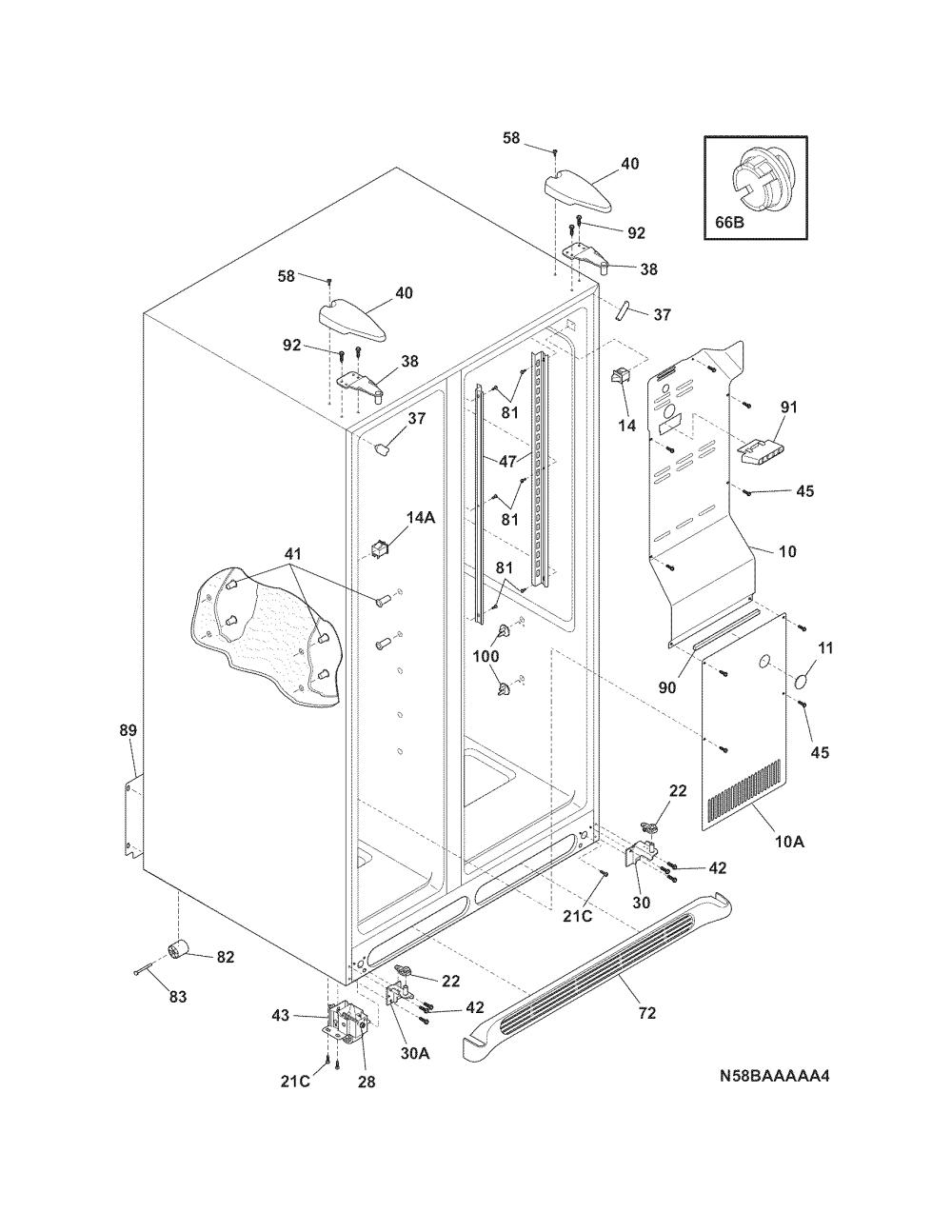 medium resolution of frigidaire ffhs2311pf5 cabinet diagram