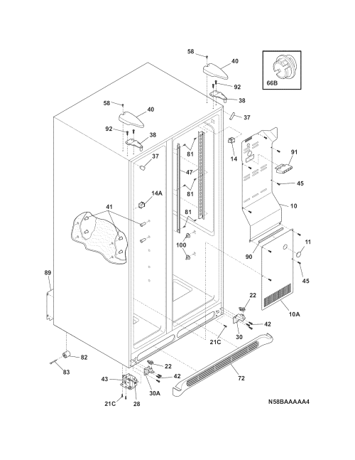small resolution of frigidaire ffhs2311pf5 cabinet diagram