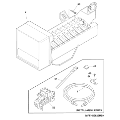 Ice Maker Diagram 1996 Nissan Sentra Wiring And Parts List For Model Ffss2614qp1a