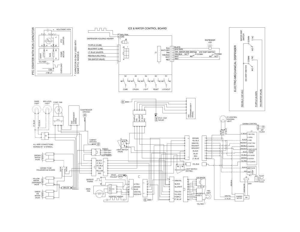 medium resolution of frigidaire mini fridge wiring diagram frigidaire model ffss2614qs1a side by side refrigerator genuine