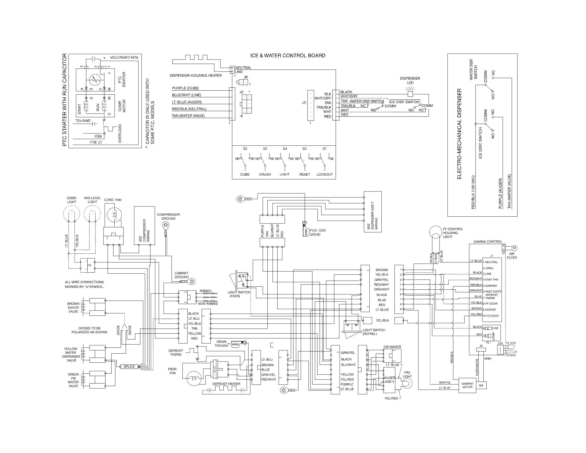 hight resolution of frigidaire mini fridge wiring diagram frigidaire model ffss2614qs1a side by side refrigerator genuine