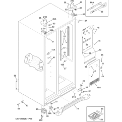 Cabinet Door Diagram Moen 7400 Parts And List For Model Fghs2631pe4a