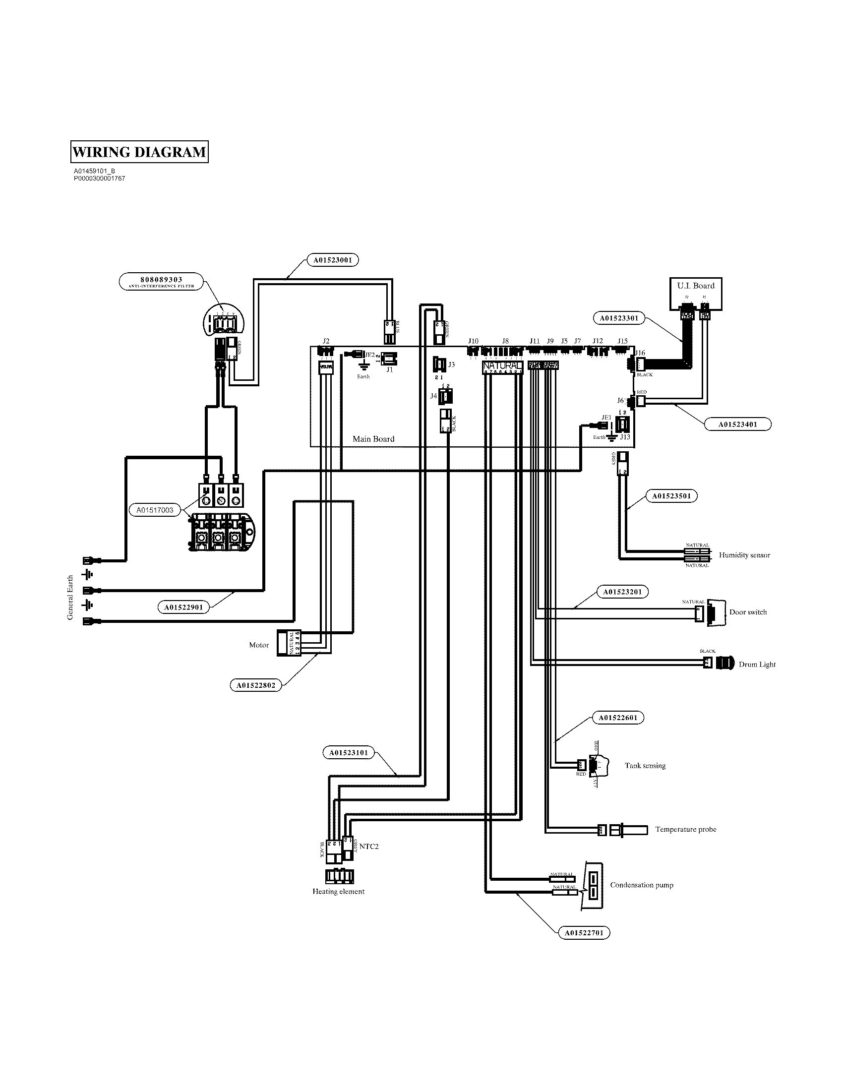 M460 G Dryer Timer Wiring Diagram 4 Prong Dryer Cord
