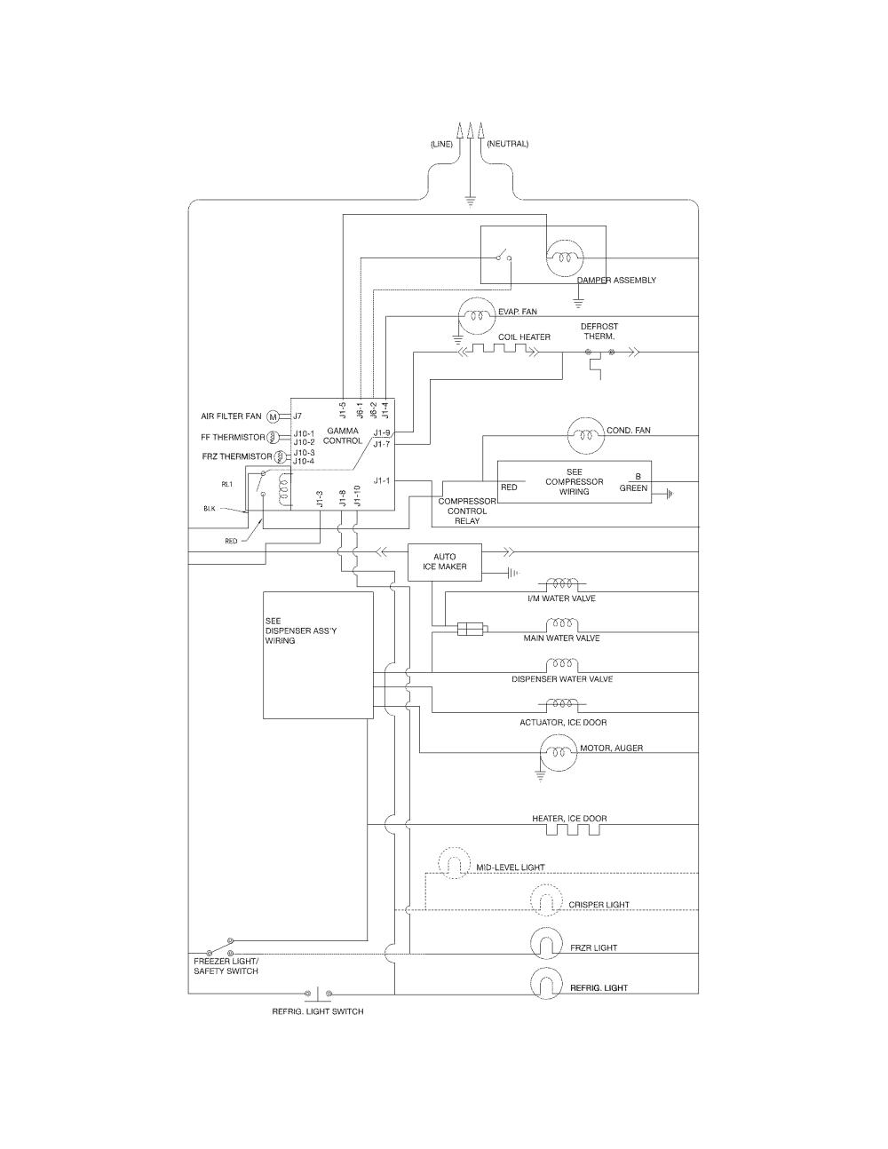 medium resolution of looking for frigidaire model ffss2614qp4a side by side refrigerator frigidaire valve wiring diagram