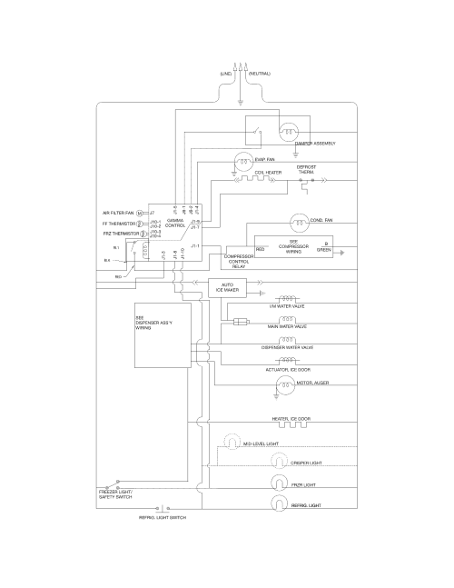 small resolution of looking for frigidaire model ffss2614qp4a side by side refrigerator frigidaire valve wiring diagram