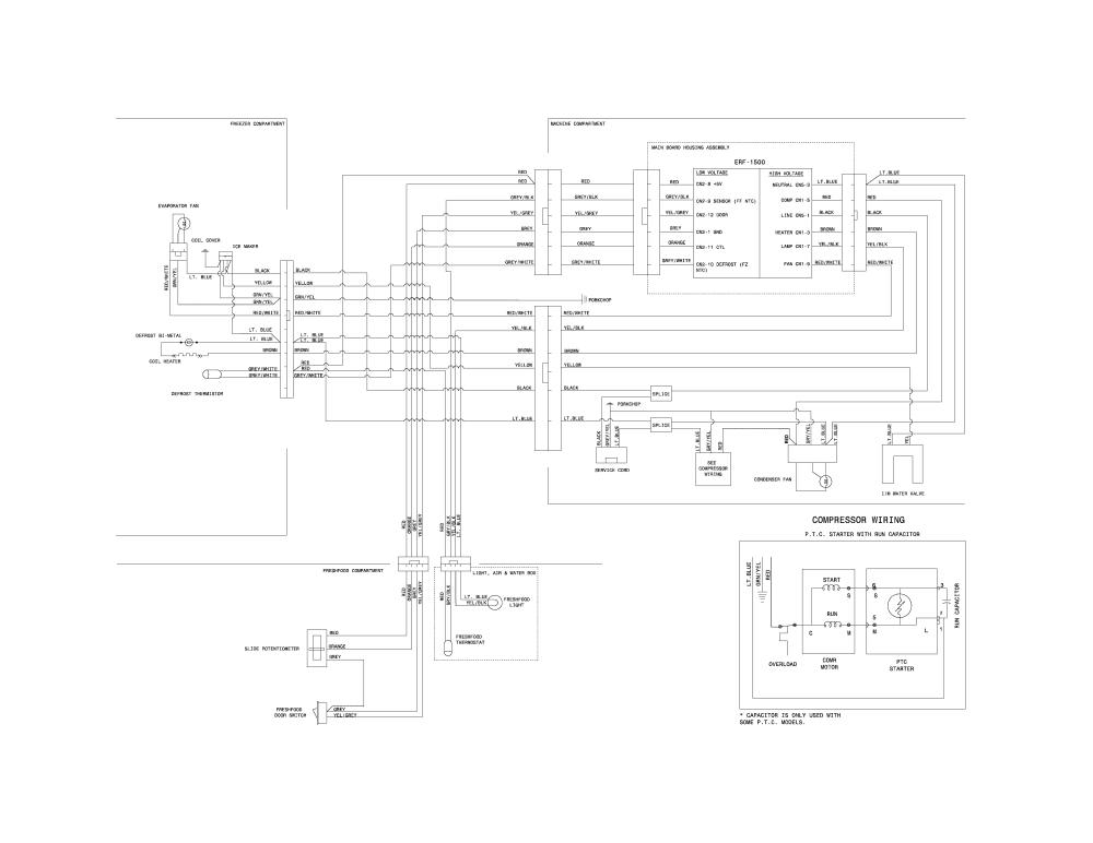 medium resolution of crosley model crt182qw1 top mount refrigerator genuine parts wiring diagra