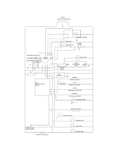 small resolution of frigidaire ffhs2611lwma wiring schematic diagram
