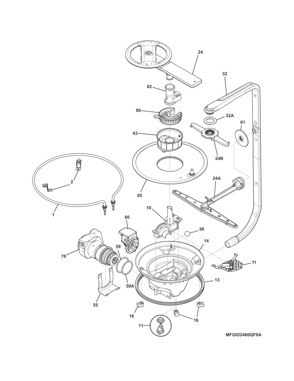 medium resolution of frigidaire fgid2466qf4a motor pump diagram