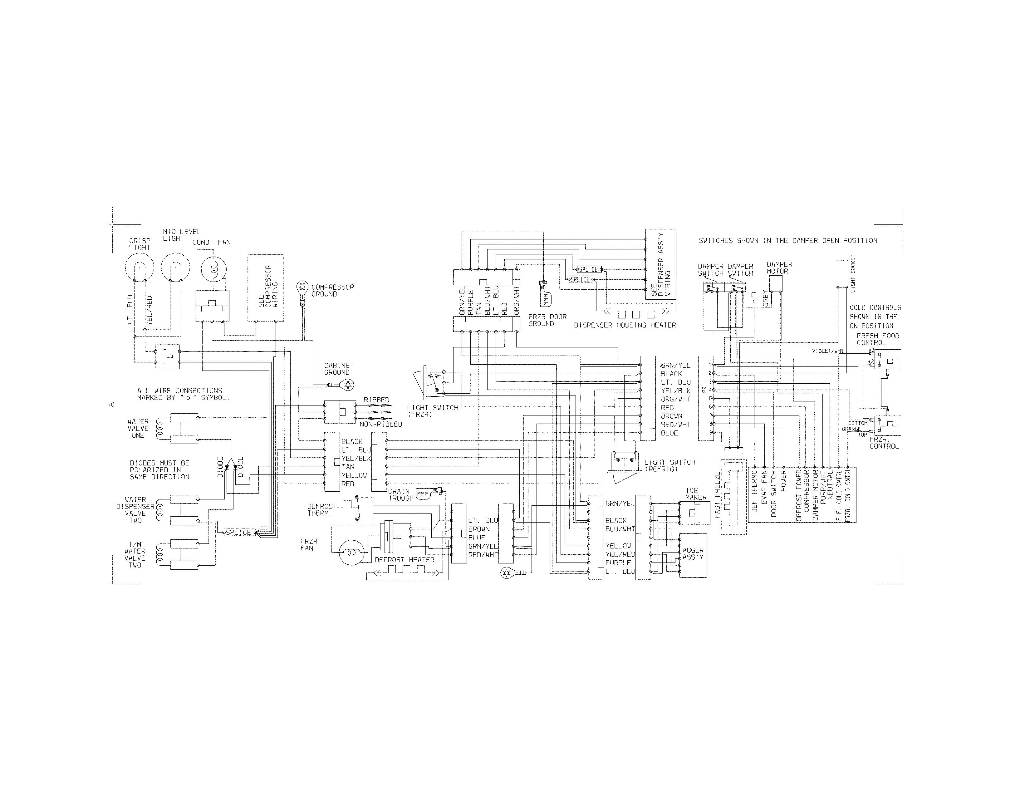 kenmore 25354369403 wiring diagram diagram [ 3300 x 2550 Pixel ]