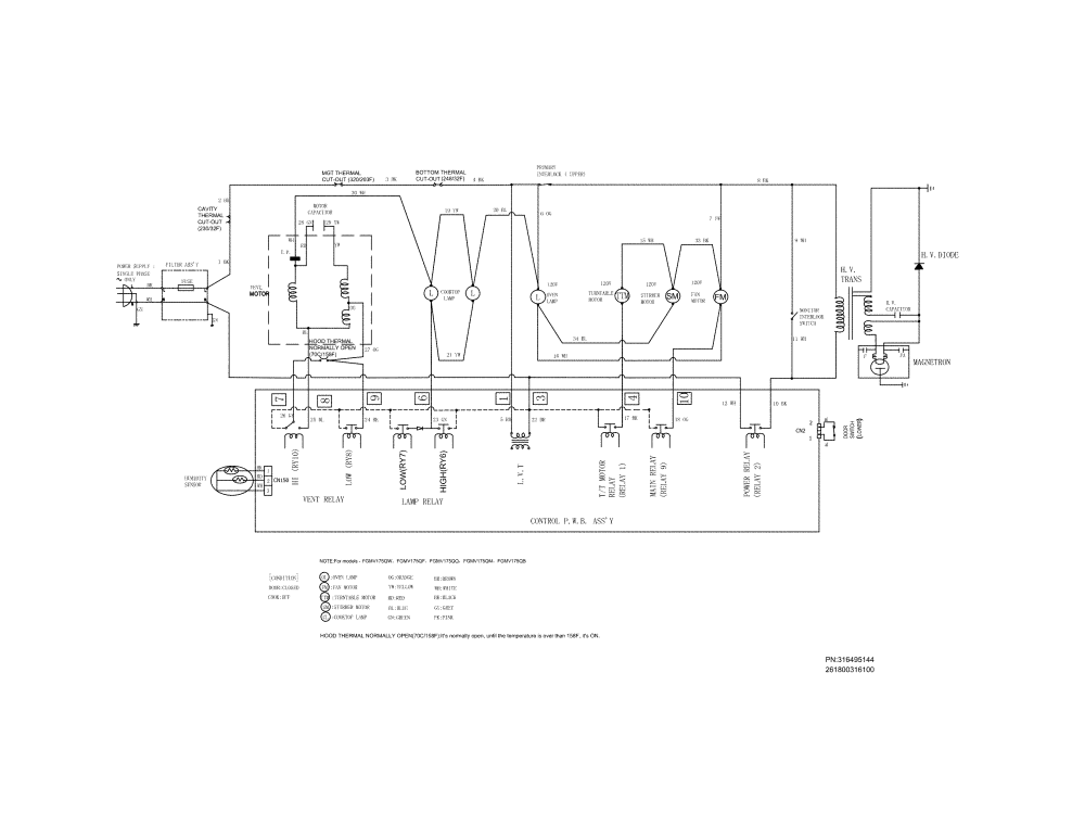 medium resolution of frigidaire microwave hood combo wiring diagram parts