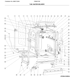 frigidaire fdb2410his2a tub water delivery diagram [ 2458 x 2799 Pixel ]