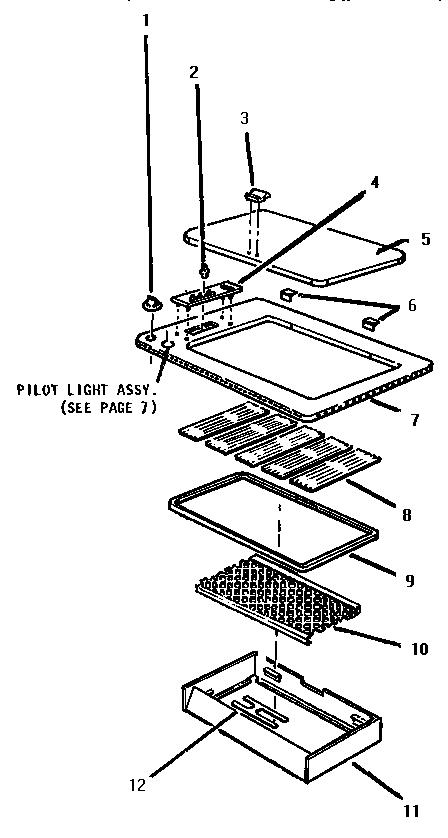 (CGB29) Diagram & Parts List for Model cgb19 Thermador