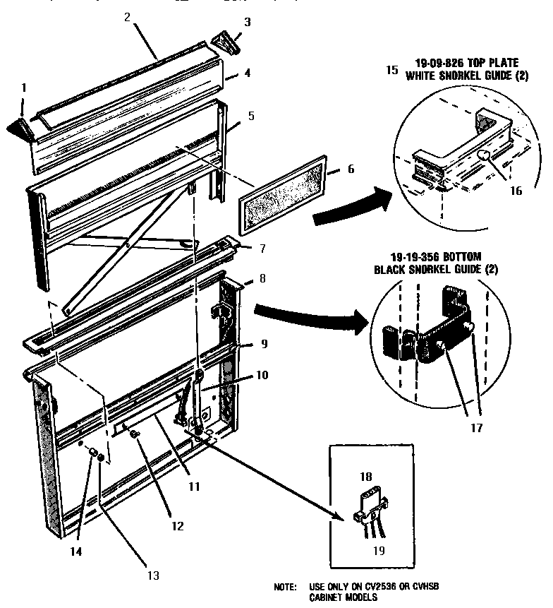 CV 2230 VENTILATOR INTAKE Diagram & Parts List for Model