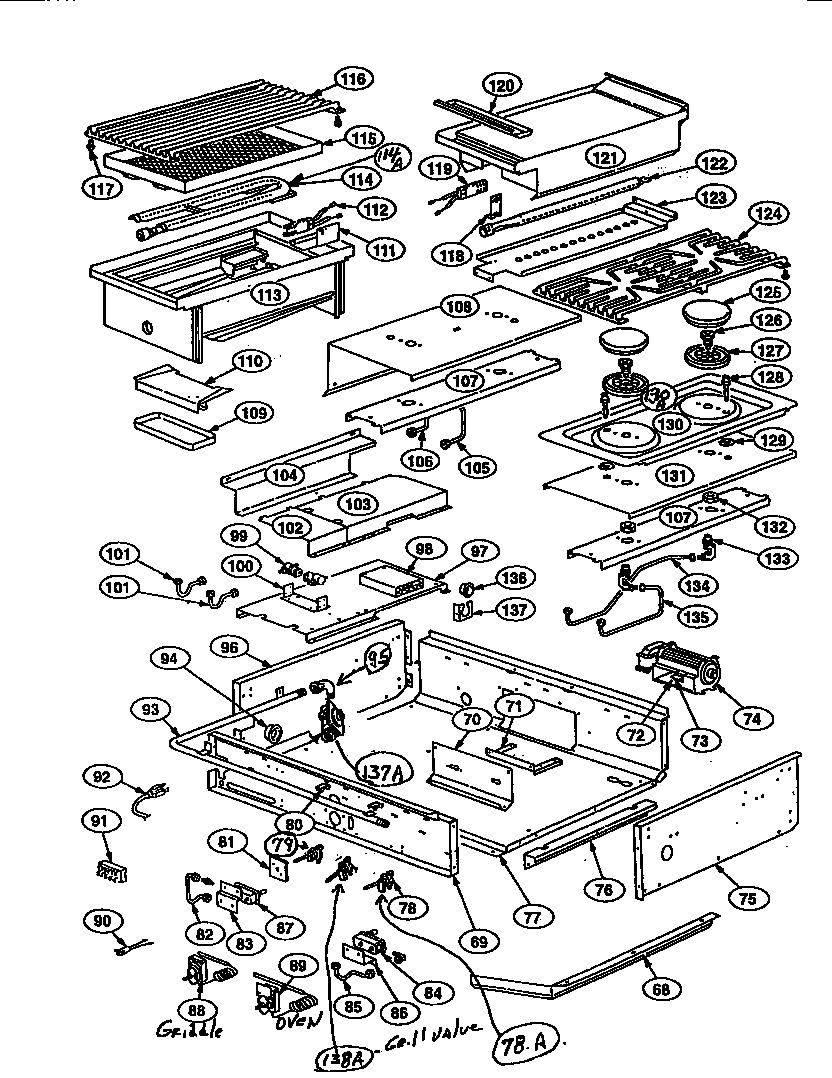 THERMADOR Professional Dual Fuel Range Schematic diagram