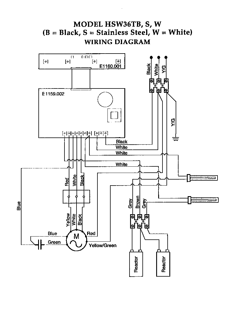 hight resolution of wiring diagram broan 154b
