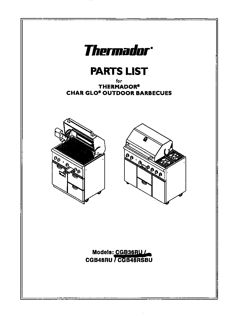 Grill Cover: Grill Cover Thermador