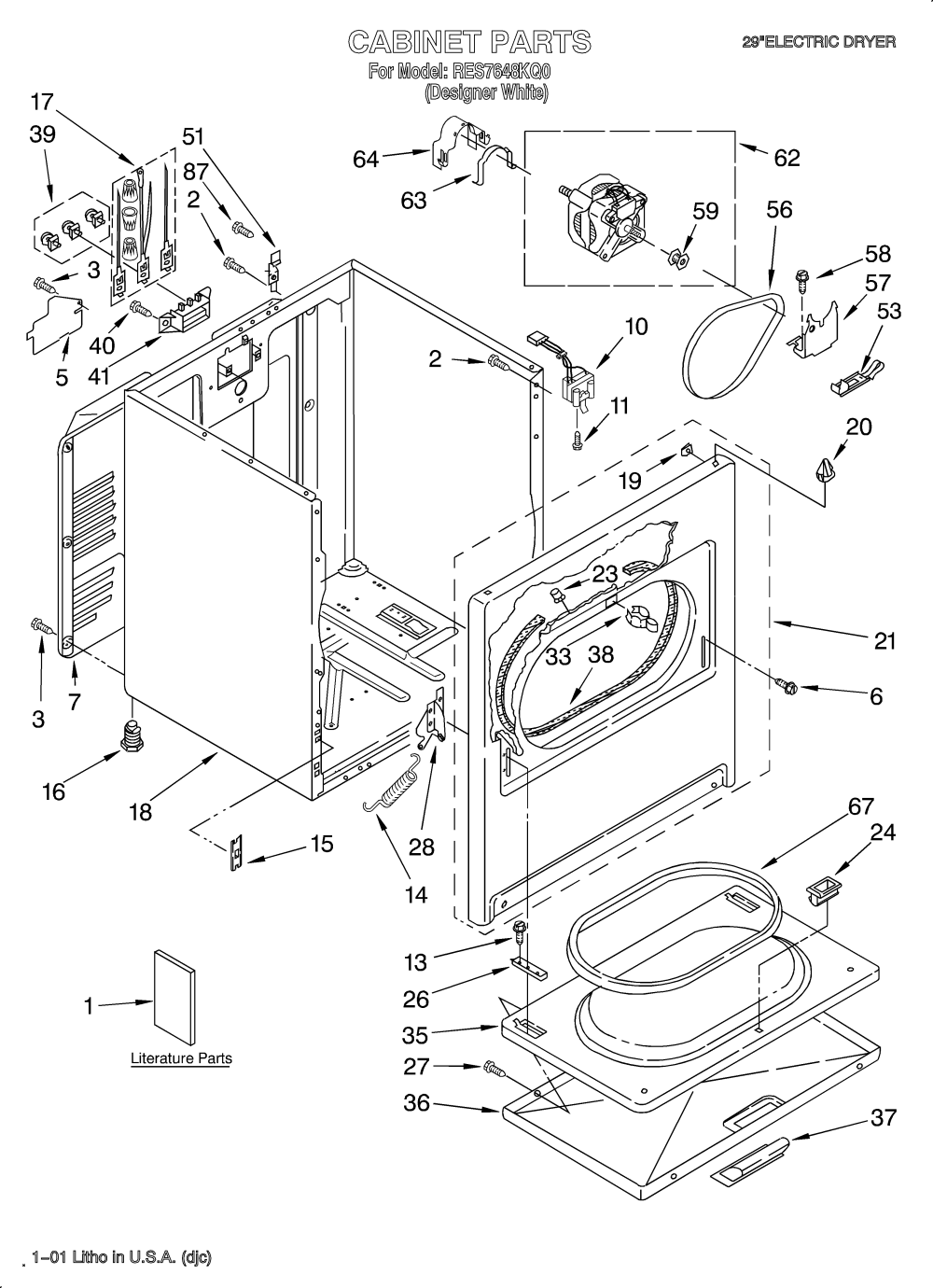 medium resolution of looking for roper model res7648kq0 dryer repair replacement parts roper dryer wiring diagram roper dryer diagram