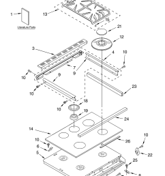 cooktop literature diagram and parts list for kitchenaid rangeparts [ 3348 x 4623 Pixel ]