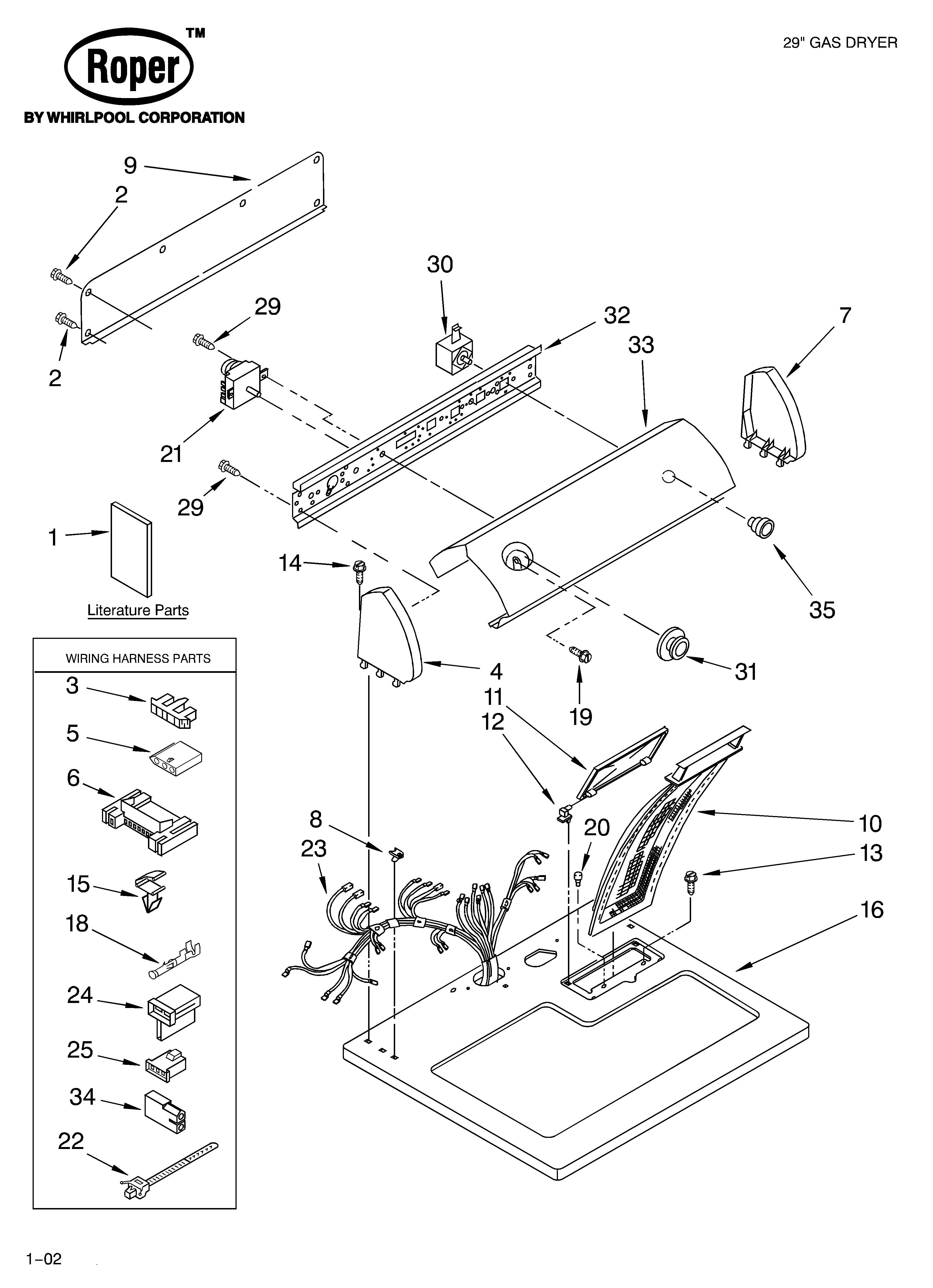 [DIAGRAM] Wiring Diagram Roper Electric Dryer FULL Version