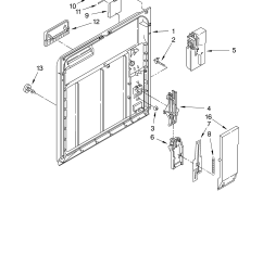 roper rud4000mq0 inner door parts diagram [ 3348 x 4623 Pixel ]