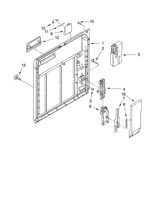 small resolution of roper rud4000mq0 inner door parts diagram