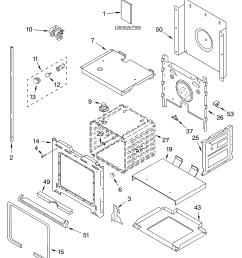 whirlpool rbd305pdq14 lower oven parts diagram [ 3348 x 4623 Pixel ]